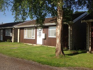 Two bedroom chalet in very quiet location in grounds of old Manor House..