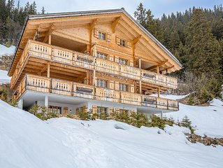 Large exclusive family friendly Chalet with catering service for rent in Murren.