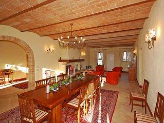 Villa di lusso con piscina privata, WiFi presso la Reception, San Gimignano