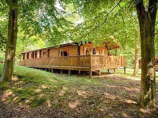 A luxury log cabin in Kenwick Woods, Louth.