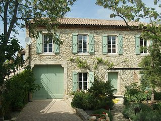 Gite with fabulous terrace, between Carcassonne and the sea, sleeps 6.