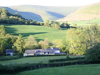 Alpaca Cottage 4* Rural retreat near Crickhowell in the Brecon Beacons