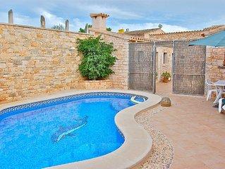 Typisches, historisches, mallorquinisches Dorfhaus mit privatem Pool & Terrasse