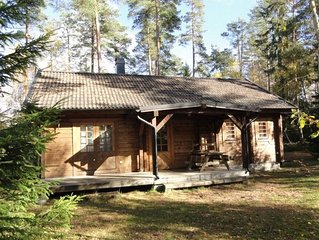 Cabin for 4 + 2 persons, 80m2 in the woods between 2 lakes
