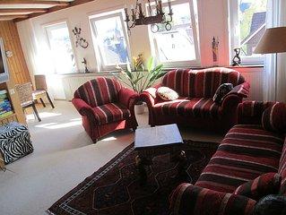 große Ferienwohnung Villa Waldfrieden in Braunlage drei Schlafräume WLAN  gratis