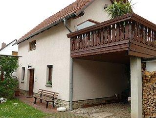 Ruhig gelegenes Ferienhaus für 2 bis 4 Personen im Vorort von Weimar