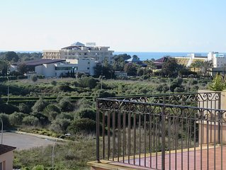 gorgeous penthouse with 90 sqm roof terrace and pool, views of sea and mountains