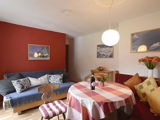 A holiday home for 4-6 persons with west-facing balcony, full bath, free Wi-Fi