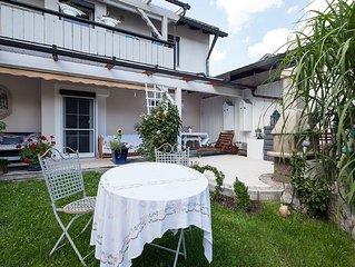 Exklusive Wohnung mit Garten und Terasse am Starnberger See bis 4 Personen