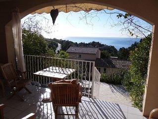 2-Zimmer-Appartement mit sensationellem Meerblick in Südlage, nah zum Strand.