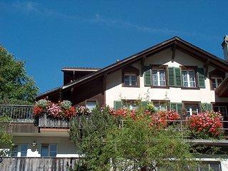 Ferienwohnungen in Grindelwald mit prachtvollem Berg- und Gletscherblick