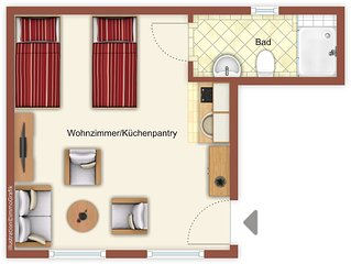 Villa del Paese - Wohnung 5,  nur 80m zum Strand! Ihr Feriendomizil auf Usedom!