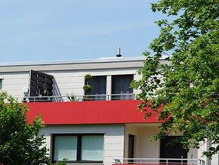Moderne Penthousewohnung mit Dachterrasse und Blick auf die Harzer Berge