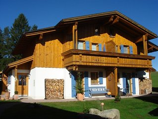 Alpine style. House m. Fireplace in Wohnber., Panoramic views of the Alps and t