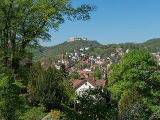 Ferienwohnung, einzigartiger Wartburgblick, Stadtnähe, ruhige Lage, Terrasse