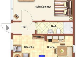 Villa del Paese - Wohnung 3,  nur 80m zum Strand! Ihr Feriendomizil auf Usedom!