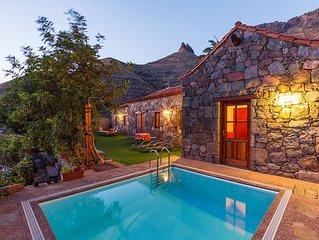 Ferienhaus Casa Tamadaba, privater Pool, strandnah, wandern im Naturpark, AGAETE