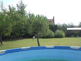 Landhaus mit privatem Pool mit Garten.