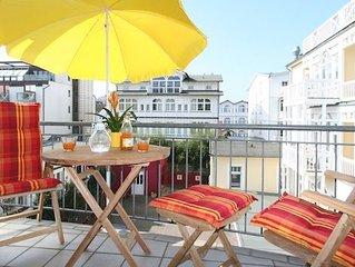 zentrale u. ruhige Lage, 30m zum Strand, Sonnenbalkon, inkl. Parkplatz und WLAN