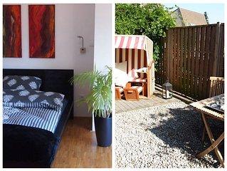 Design-Apartm. im Grunen, 12 min von historischen Altstadt, Terrasse, Parkplat