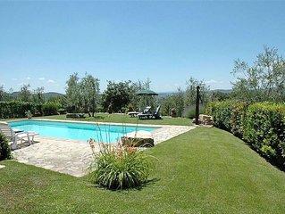Schönes Ferienhaus bei Gaiole in Chianti mit exklusivem Pool zu Alleinnutzung