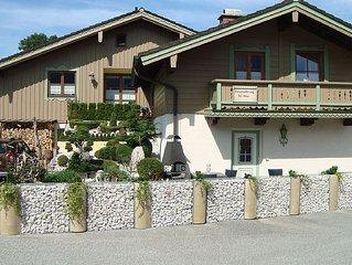 Schöne Ferienwohnung im Landhausstill 4 Sterne Vollausstattung-Rundum Bergblick