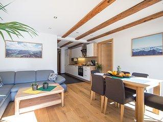 60 m² moderne Ferienwohnung mit Balkon, gratis Badesee, 100 m  bis zum Skigebiet