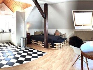 Komfort und Stil uber Weimars Dachern in schonster Lage nahe Altstadt – 60m2
