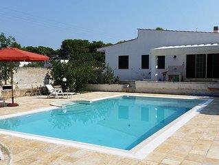 Luxuriöses Ferienhaus mit Garten und Pool, ca. 800 m vom herrlichen Sandstrand