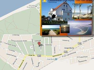 Ferienwohnung Graal Muritz 650m vom Strand