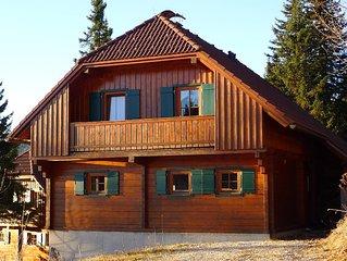 Mountain cabin at skiing area