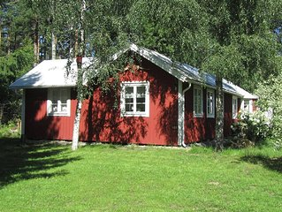 neu gebautes Ferienhaus bei Jarnforsen, direkt am Eman