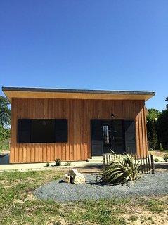 Maison bois avec jardin