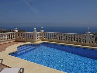 Villa Moraira, Costa Blanca, Spain, panoramic sea views, private pool