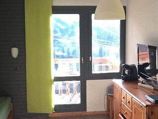 Belle plagne, pied des pistes, Studio divisible orienté S/O balcon