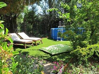 Haut de villa avec piscine hors sol et jacuzzi au ceour de la Provence (Var)