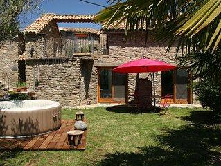 Grand appartement avec jardin et spa privé à 15 minutes de Ainsa - Aragon