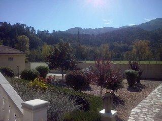 Villa Cévennes comfortable, newly equipped on 1000 m2 garden