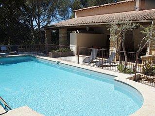 Maison Provence 5 pers - Piscine - Tennis - Petanque - Le Domaine d'Alezen