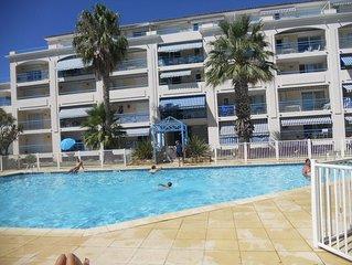 T2 cabine neuf avec piscine idealement situe a 300 m de la plage