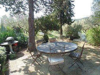 Maison en pleine garrigue au coeur d'une petite oliveraie