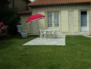 Logement 5p. à 2 pas de la plage avec jardin et terrasse  ++ tout à pied ++