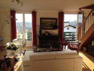 Appartement spacieux et lumineux colline de Bordagain tres belle vue montagne