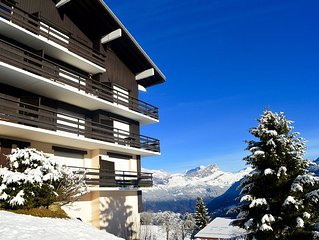 COSY ** IDEAL FOR 4 SKI 1500M, WiFi, SUBLIME VIEW