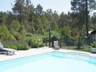 Large villa heated pool ss overlooked the forest edge, covered terrace