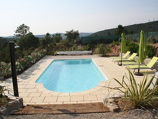 Rental in New villa with pool between the sea and