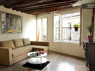 Marais Studio Paris center + 36 m2 with sunny ter