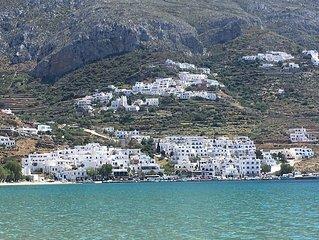 Maison cycladienne sur mer Aigiali Potamos