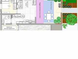 Charmant appt T2 jardinet Saint Pierre la Mer, 300m plage,pres Narbonne Gruissan