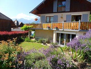 Lac d'Annecy Bel appartement en rez de jardin  4 couchages